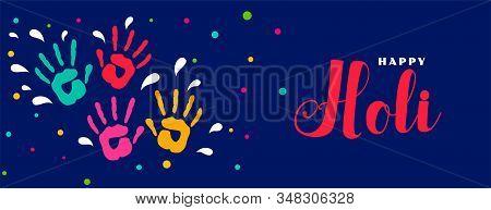 Happy Holi Indian Festiva Colorsl Banner Design