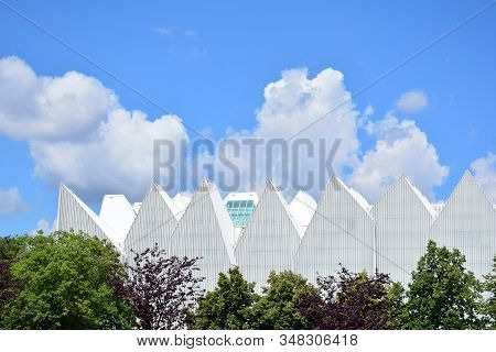 Szczecin, Poland. 25 June 2018. A Modern Philharmonic Building