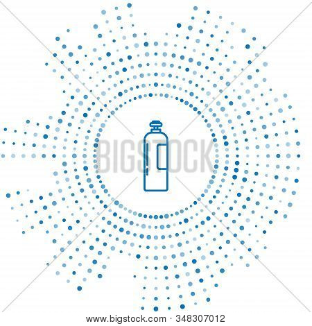Blue Line Industrial Gas Cylinder Tank For All Inert And Mixed Inert Gases Icon Isolated On White Ba