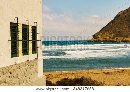 Seascape. Beach El Playazo, Cabo De Gata, Province Almer