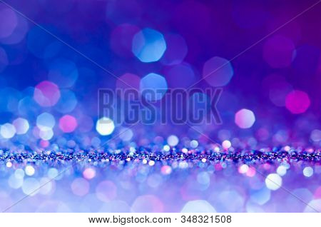 Soft Image Abstract Bokeh Ultra Violet,purple,pink Color With Light Background.ultra Violet Night Li