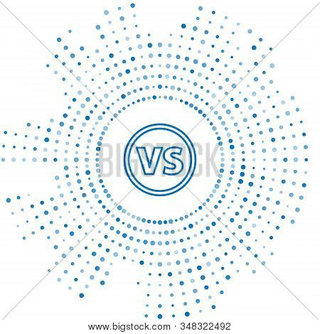 Blue Line Vs Versus Battle Icon Isolated On White Background. Competition Vs Match Game, Martial Bat