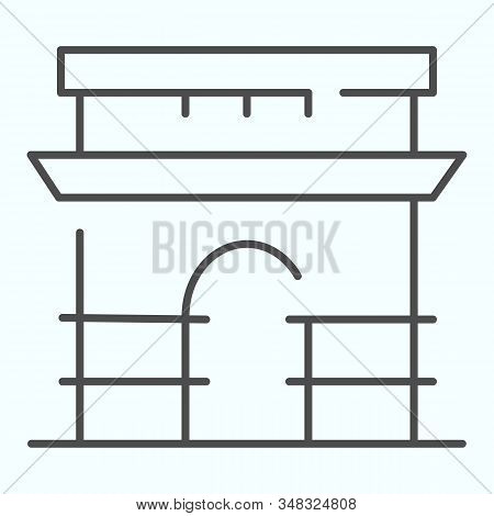 Triumphal Arch Thin Line Icon. French Arch Of Triumph Vector Illustration Isolated On White. Triumph
