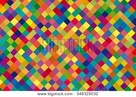 Square Of The Same Size, Multiple Colors, Similar, Alternating. Can Be Used As Background,seamless P