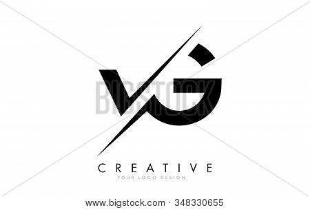 Vg V G Letter Logo Design With A Creative Cut. Creative Logo Design.