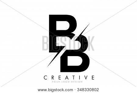 Bb B B Letter Logo Design With A Creative Cut. Creative Logo Design..