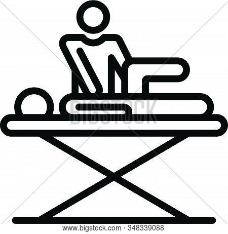 Rehabilitation Massage Icon. Outline Rehabilitation Massage Vector Icon For Web Design Isolated On W