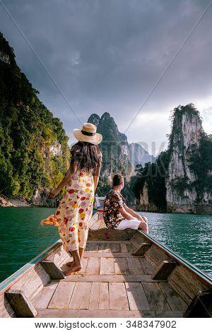 Khao Sok National Park Cheow Lan Dam, Ratchaprapha Dam Or Rajjaprabha Dam At Suratthani, Thailand Co