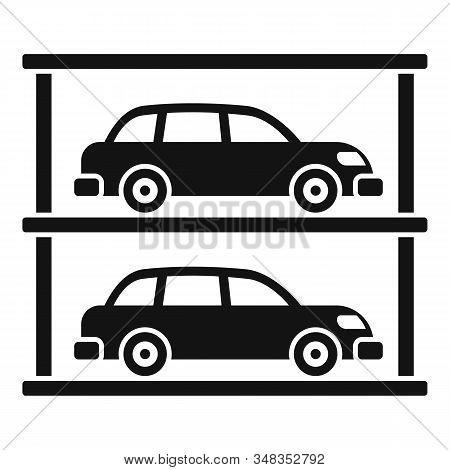 Underground Mall Parking Icon. Simple Illustration Of Underground Mall Parking Vector Icon For Web D