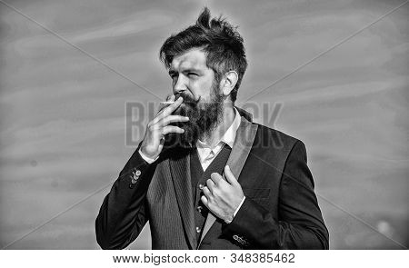 Recovery From Nicotine Addiction Must Involve Changing Our Relationship To Smoking. Bearded Hipster