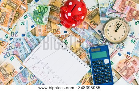 Planning In Calendar Some Investment In Euro Currency