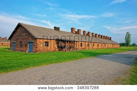 Crematorium Building In Concentration Camp Auschwitz Birkenau