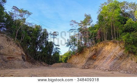 Destruction Of Kubong Hill,labuan Pearl Of Borneo,malaysia Rainforest For Agriculture & Commercial I