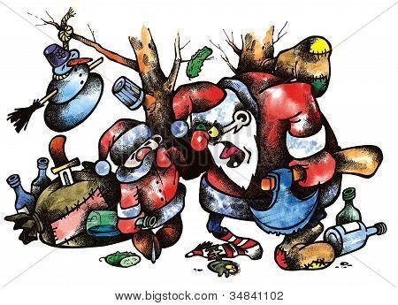 Old And Yong Santas