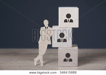 Business, Technology, Internet And Network Concept. Human Resources Hr Management Concept.