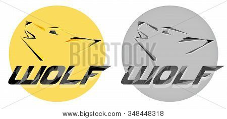 Creative Vector Wolf Head Logotype In Polygon Or Polyart Style. Modern Professional Wolf Logo For A