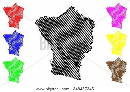Erongo Region (regions Of Namibia, Republic Of Namibia) Map Vector Illustration, Scribble Sketch Ero