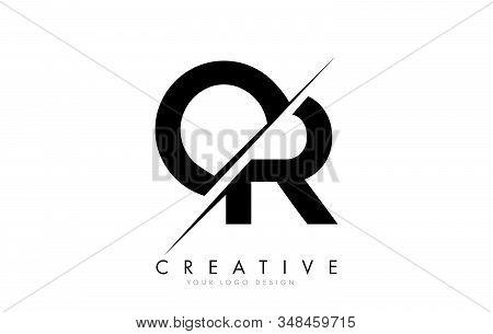 Or O R Letter Logo Design With A Creative Cut. Creative Logo Design.