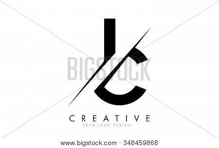Ic I C Letter Logo Design With A Creative Cut. Creative Logo Design..