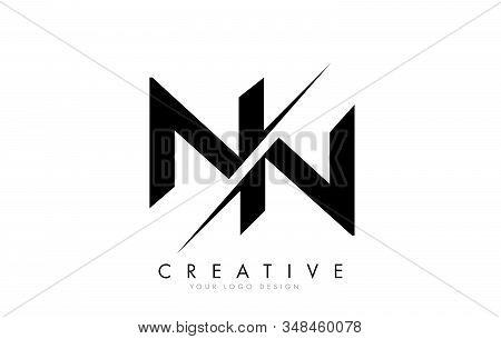 Nn N N Letter Logo Design With A Creative Cut. Creative Logo Design..