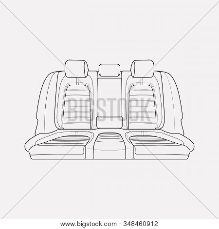 Back Seats Icon Line Element. Vector Illustration Of Back Seats Icon Line Isolated On Clean Backgrou