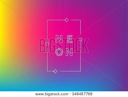 Neon Violet Gradient Background. Abstract Bright Color Background. Ui Ux Trendy Web Vector Backdrop.
