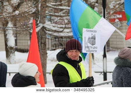 02.02.2020, Syktyvkar, Russia A Picket Against Amendments To The Constitution Of Russia Proposed By