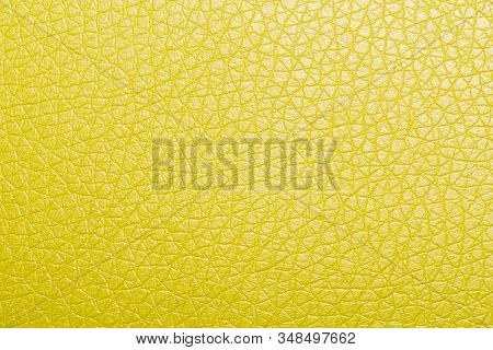 Yellow Leather Background Or Texture. Texture Photo Closeup Texture Yellow Artificial Leather