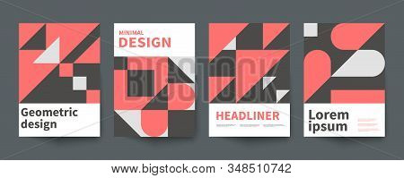 Minimalistic Geometric Poster, Minimal Cover Template, A4 Brochure, Swiss Style Vector Graphic Desig