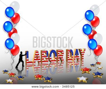 Labor Day Celebration With Balloons