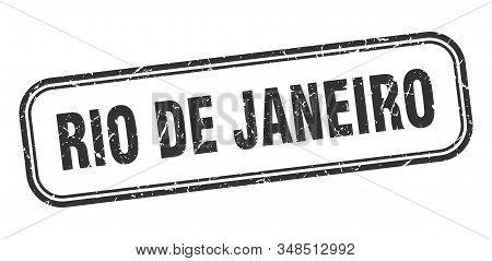 Rio De Janeiro Stamp. Rio De Janeiro Black Grunge Isolated Sign