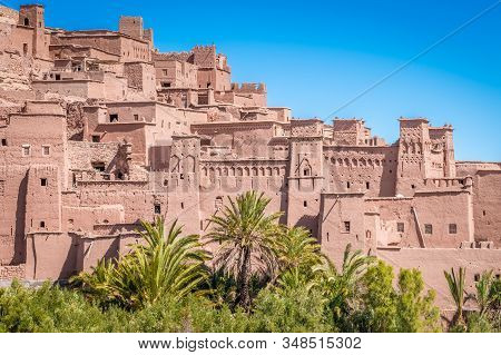 Fortified Village And Clay Houses At Ait Benhaddou Ancient Settlement, Morocco