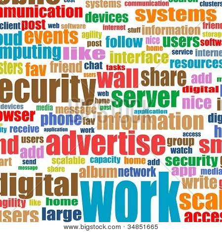Social Media Concept In Tag Cloud Background