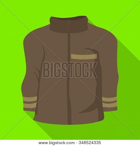 Isolated Object Of Jacket And Fireman Logo. Collection Of Jacket And Clothing Vector Icon For Stock.