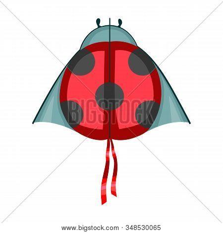 Kite Ladybug Vector Icon.cartoon Vector Icon Isolated On White Background Kite Ladybug .