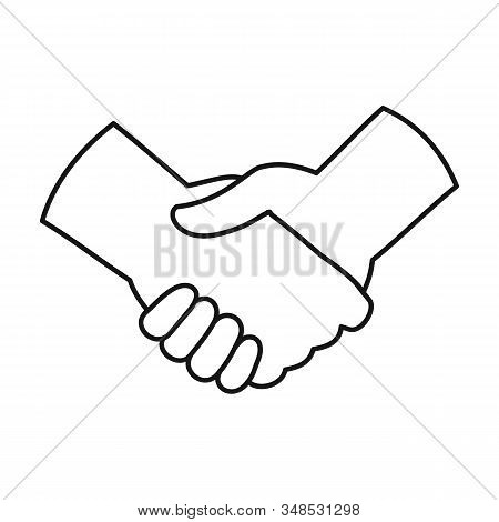 Handshake Vector Icon.outline, Line Vector Icon Isolated On White Background Handshake.