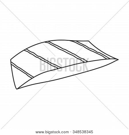 Piece Fish Vector Icon.outline, Line Vector Icon Isolated On White Background Piece Fish.