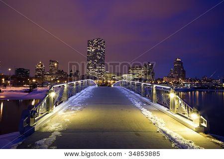 Winter Sunset In Milwaukee