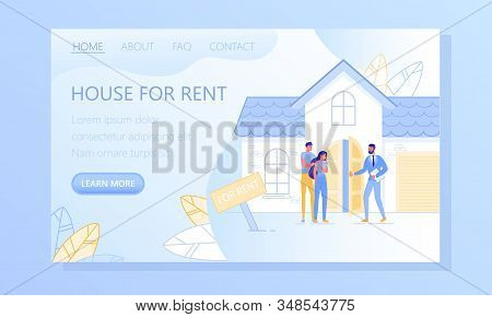 Real Estate Services Flat Vector Web Banner, Landing Page Template. Realtor, Real Estate Expert Help
