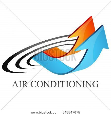 Air Conditioning Heating Red And Cooling Blue Arrows Symbol