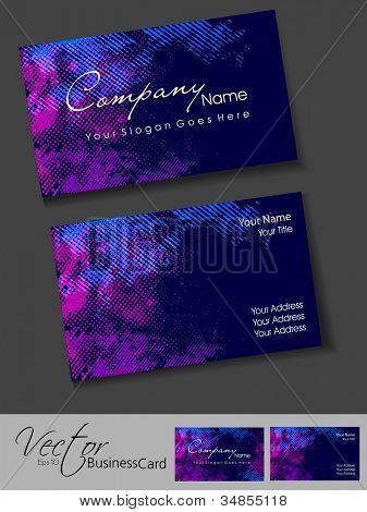 Abstract colorful bright color professional and designer business card template or visiting card set. EPS 10. Vector illustration.
