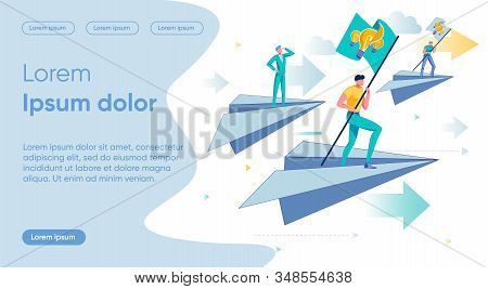 Competition Flat Landing Page Vector Template. Rivalry, Idea Search, Solution Pursuit Metaphor. Busi