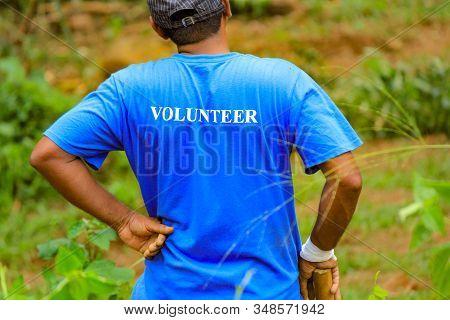 Volunteer On Volunteering Activity During Corona Epidemic