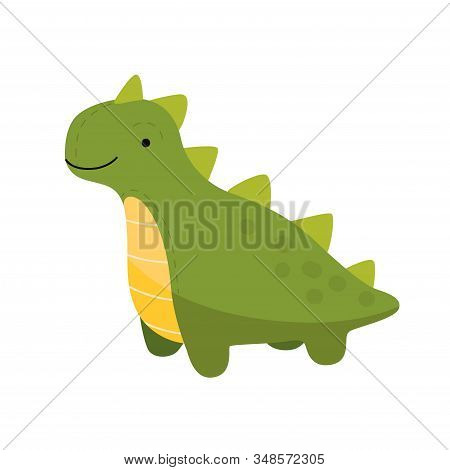 Toy Dinosaur For Young Children. A Series Of Childrens, Cute Toys. Funny Cartoon Brachiosaurus