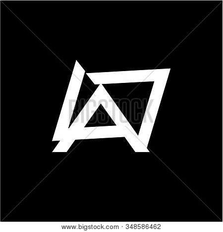 Simple Lav, Lap, Lad, Da, Oa Initials Company Logo