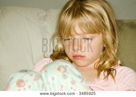 Little Girl In Pajamas