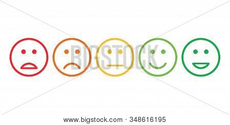 Satisfaction Feedback Review Scale Service Survey Vector Illustration