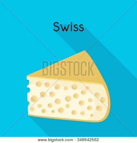 Vector Illustration Of Chees And Swiss Logo. Web Element Of Chees And Piece Stock Symbol For Web.