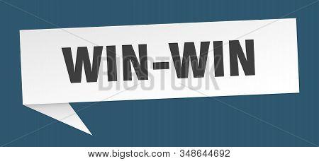 Win-win Speech Bubble. Win-win Sign. Win-win Banner