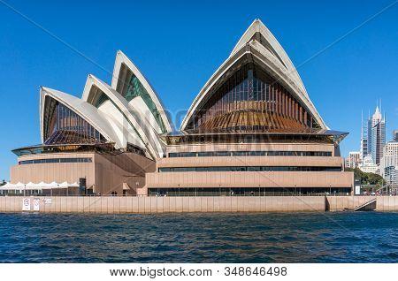 Sydney, Australia - July 23, 2016: Sydney Opera House Building View From Sydney Harbour
